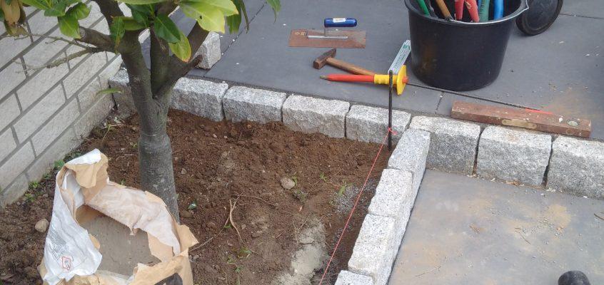 Hausmeisterservice – Gartenpflege – Beetumrandung – Beeteinfassung – Granitstein